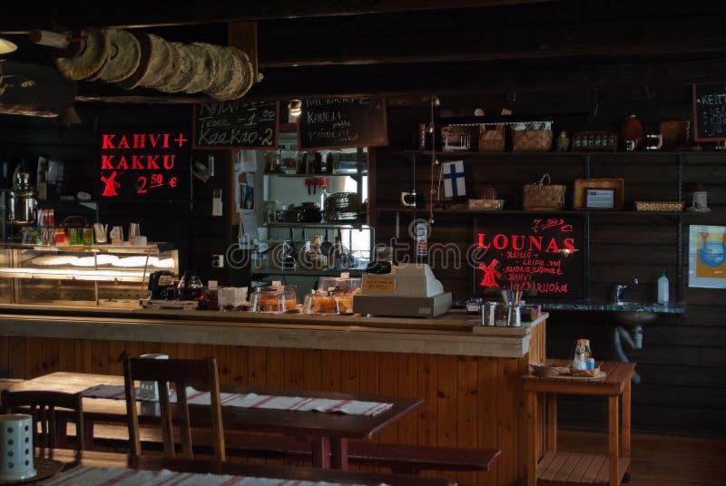Café del borde de la carretera imagenes de archivo