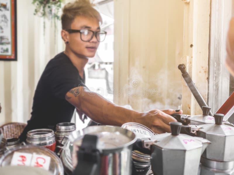 Café del café del aire abierto del Local fotos de archivo