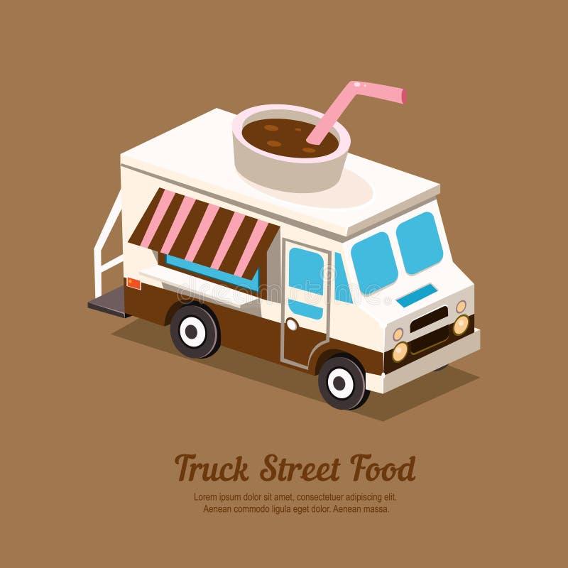 Café del camión stock de ilustración