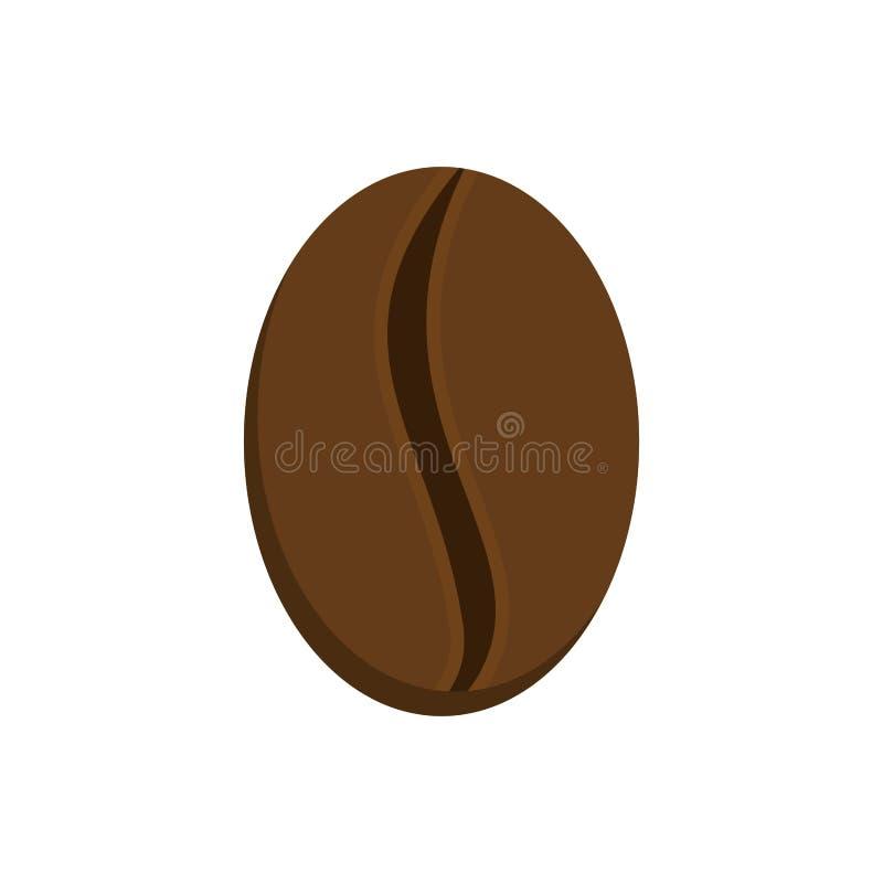 Café del grano aislado Granos crudos del cafeto libre illustration