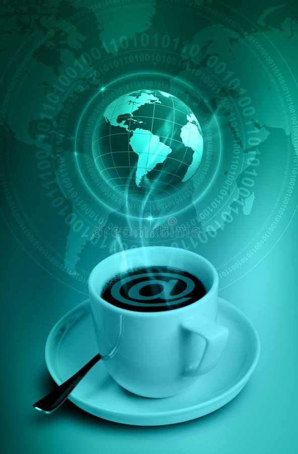Café del Internet stock de ilustración