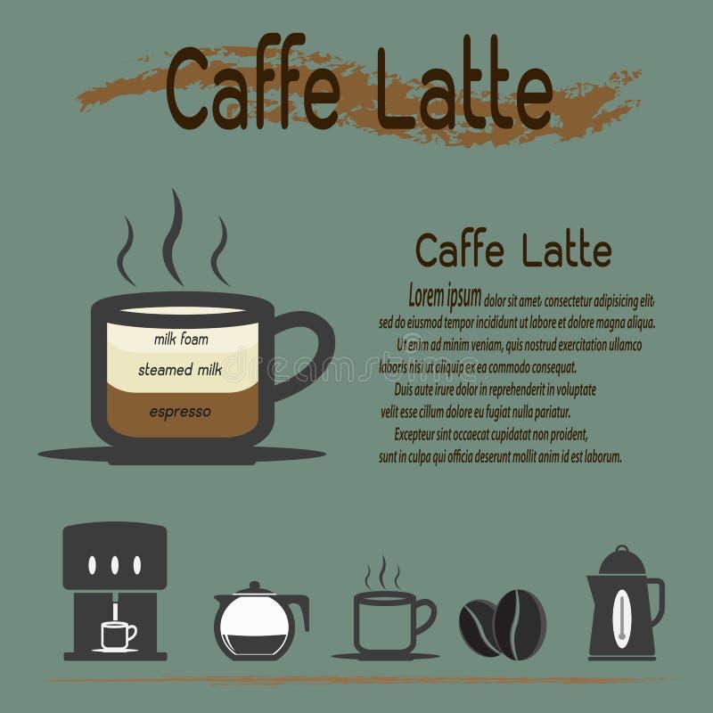 Café del Latte de Caffe ilustración del vector
