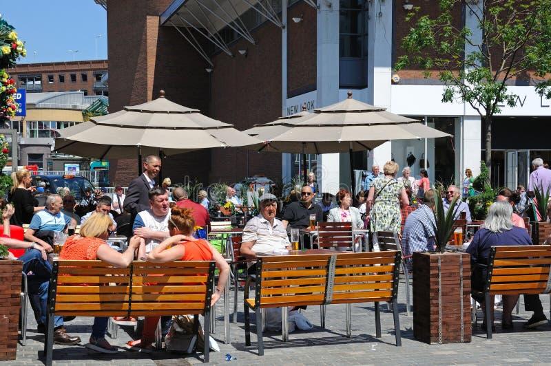 Café del pavimento, Liverpool imágenes de archivo libres de regalías