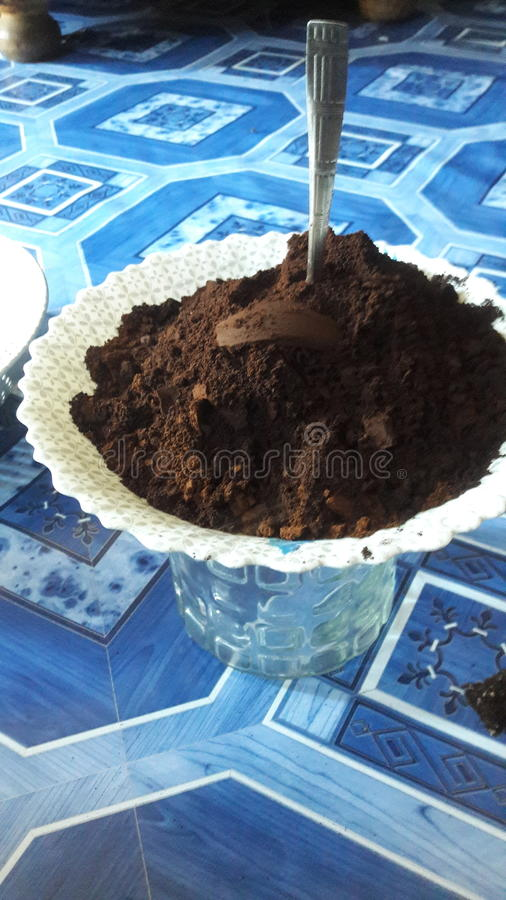 CAFÉ del Ugandan imagen de archivo libre de regalías