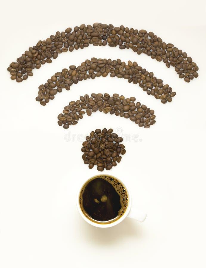 Café del Wi-Fi imagen de archivo libre de regalías