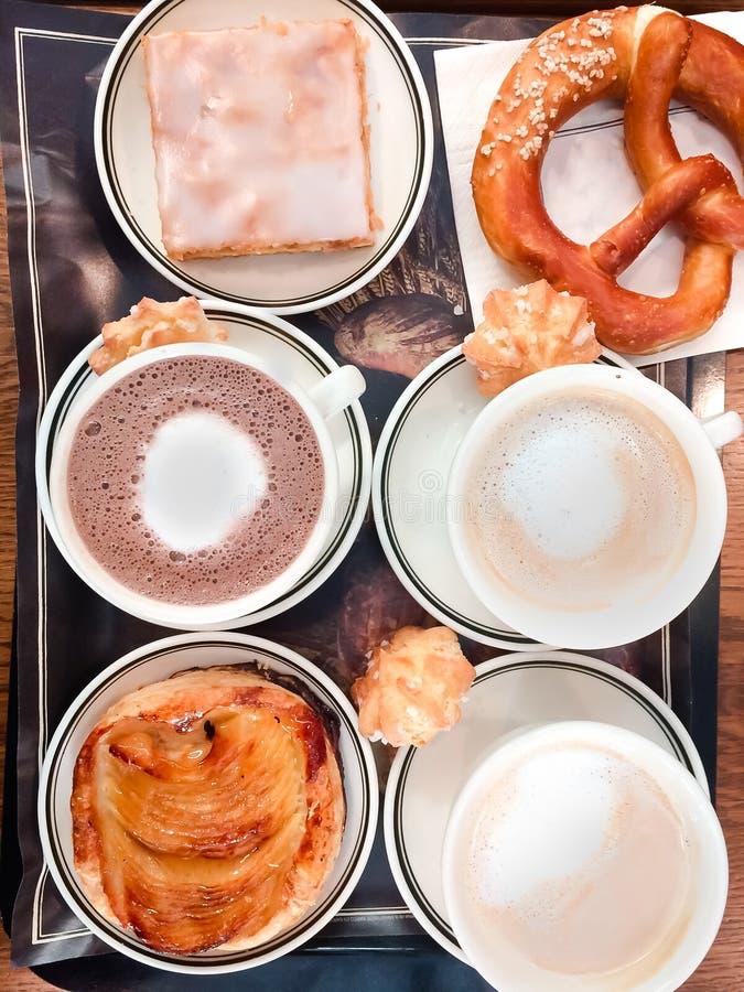Café delicioso de la mañana imagenes de archivo