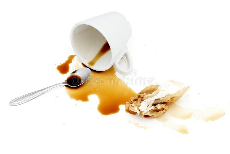 Café derramado. imagem de stock royalty free
