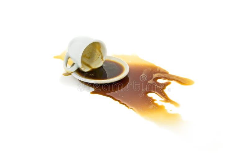 Café derramado fotografia de stock