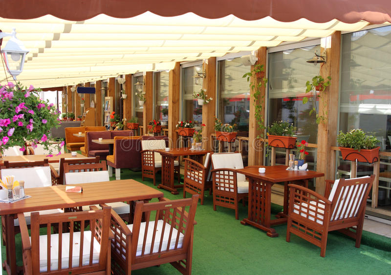 Café do ar aberto fotografia de stock royalty free