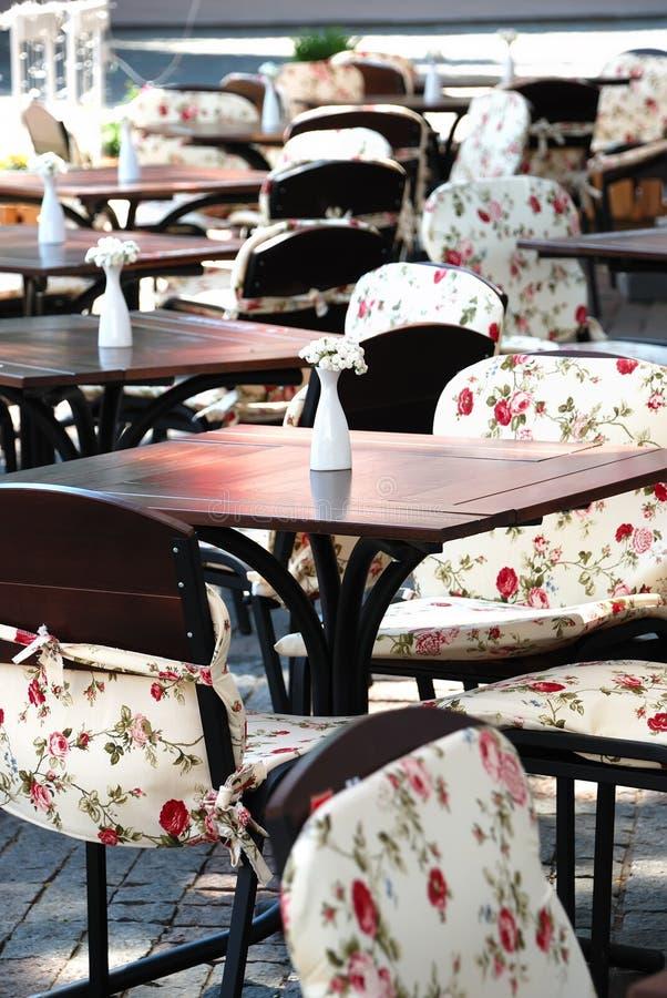 Café do ar aberto do verão foto de stock royalty free