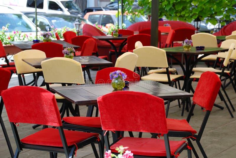Café do ar aberto do verão imagens de stock royalty free