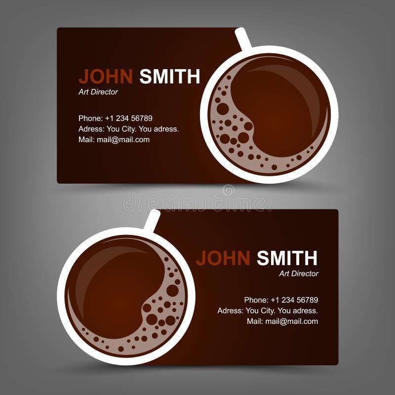 Café do cartão ilustração stock