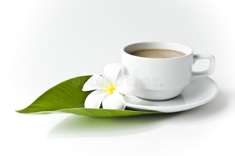 Café do copo com leite fotografia de stock
