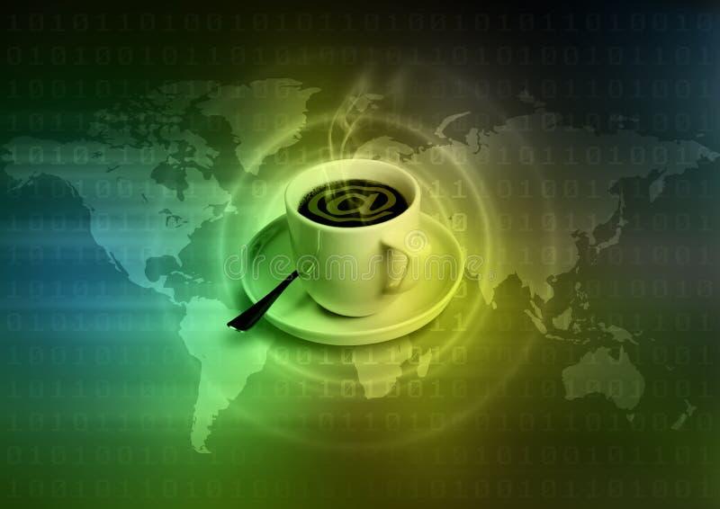 Café do Internet ilustração royalty free