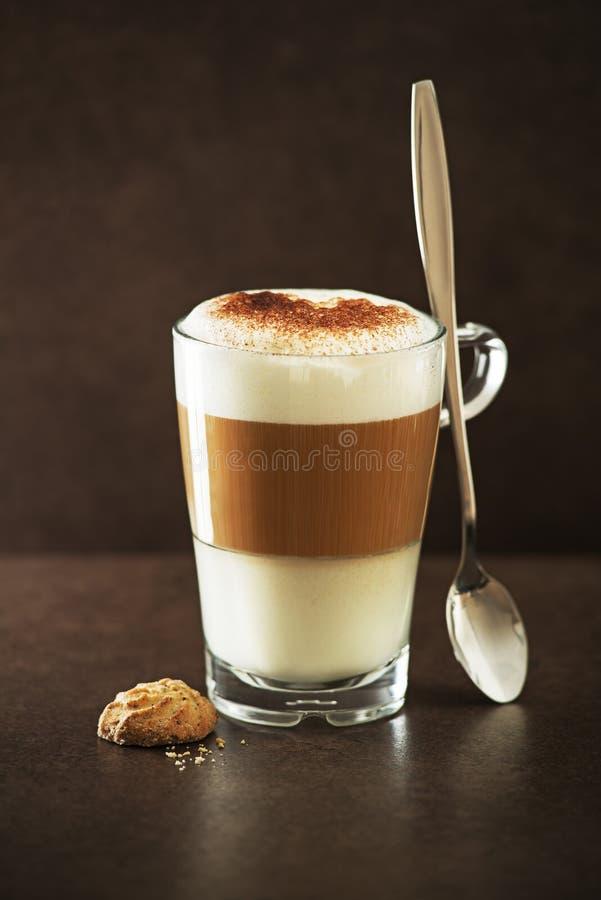 Café do macchiato do Latte fotografia de stock