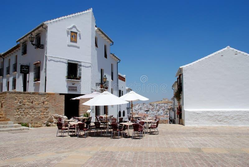 Café do pavimento, Antequera fotos de stock royalty free