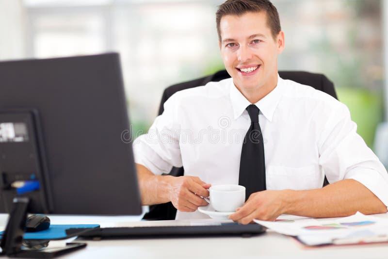 Café do trabalhador de escritório foto de stock royalty free