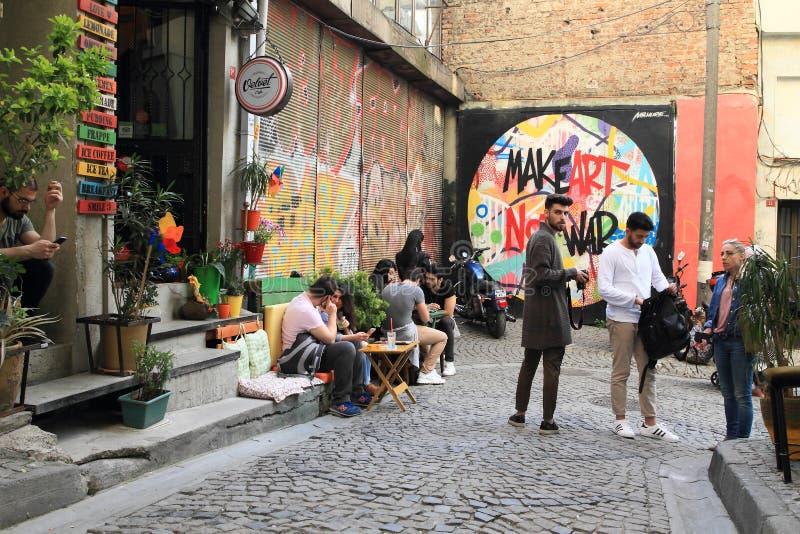 Café do veludo de Grandmaem Istambul fotos de stock
