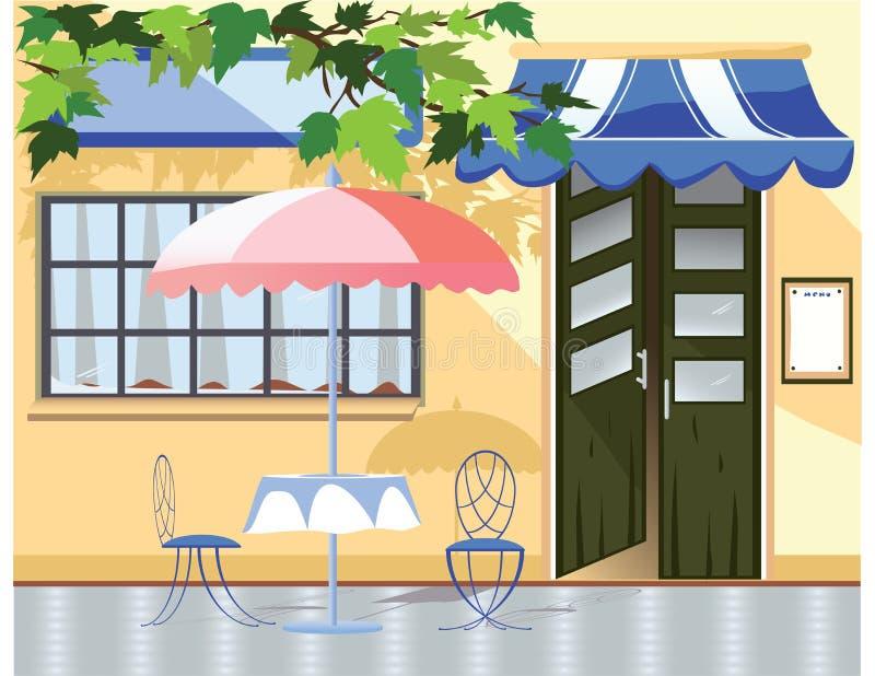 Café do vintage ilustração do vetor