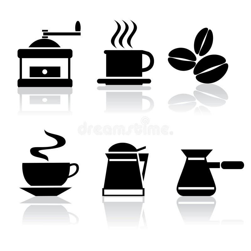 Café dos ícones ilustração stock
