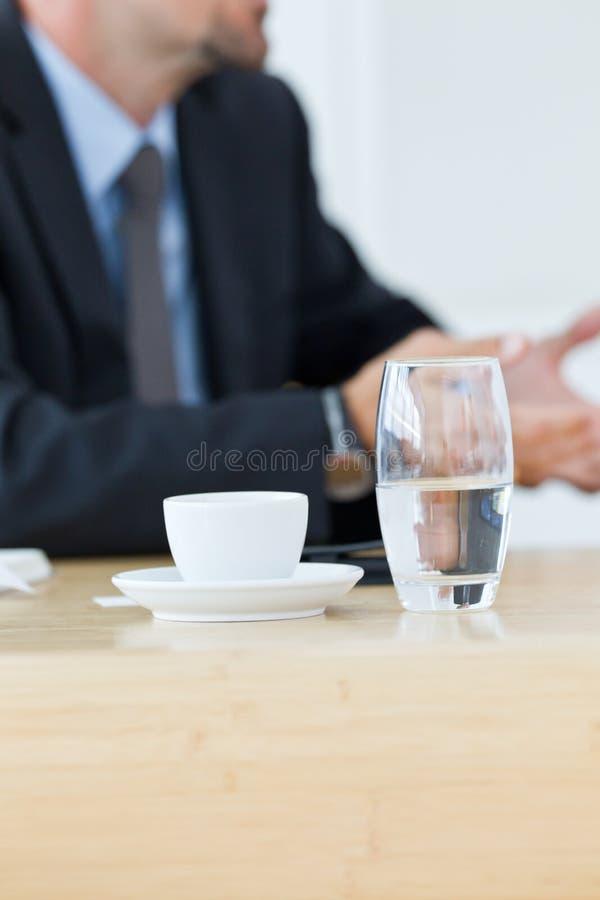 Café e água fotos de stock royalty free