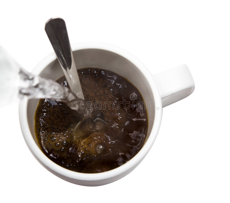 Café e água quente foto de stock royalty free
