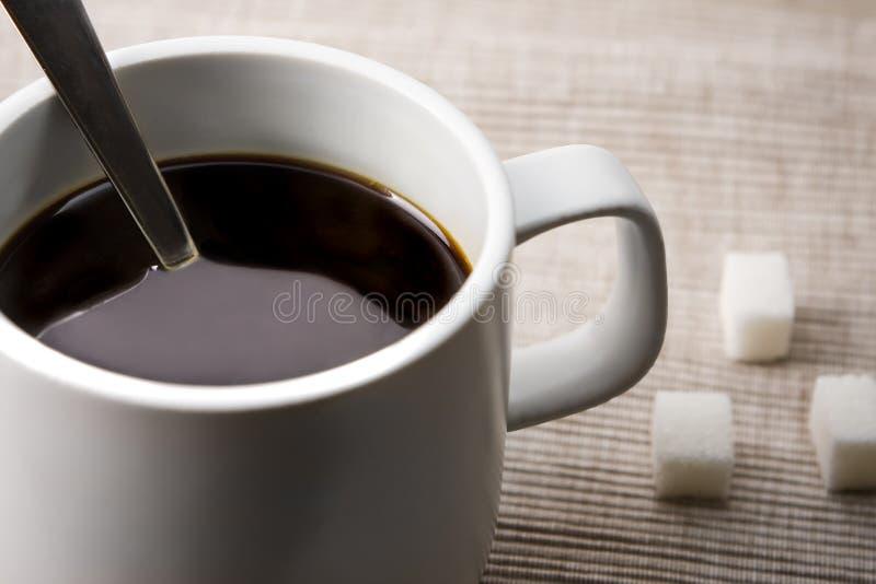 Café e açúcar foto de stock