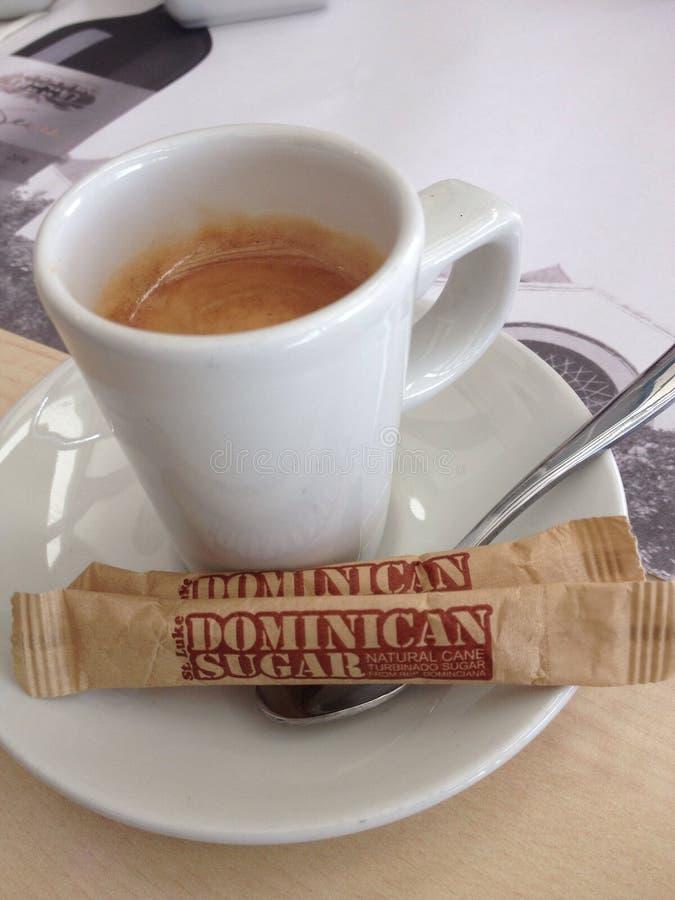 Café e açúcar fotografia de stock