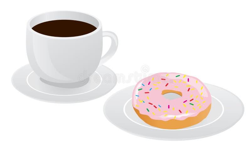 Café e anéis de espuma ilustração do vetor