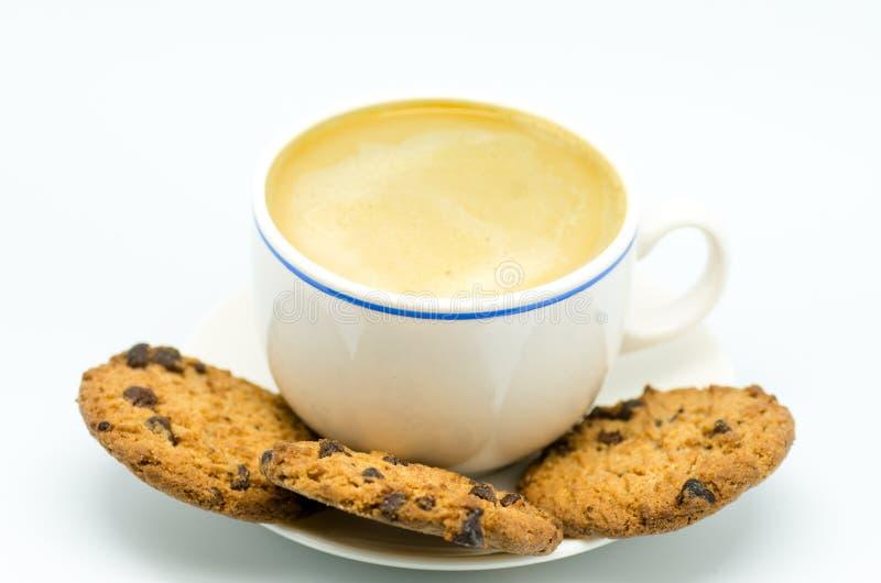 Café e biscoitos 3 imagem de stock royalty free