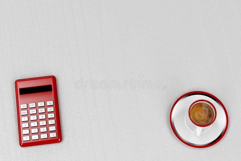 Café e calculadora ilustração royalty free
