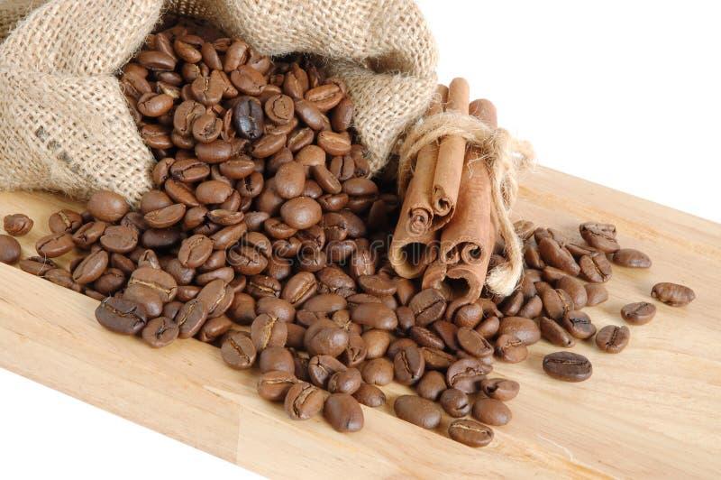 Café e canela fotografia de stock
