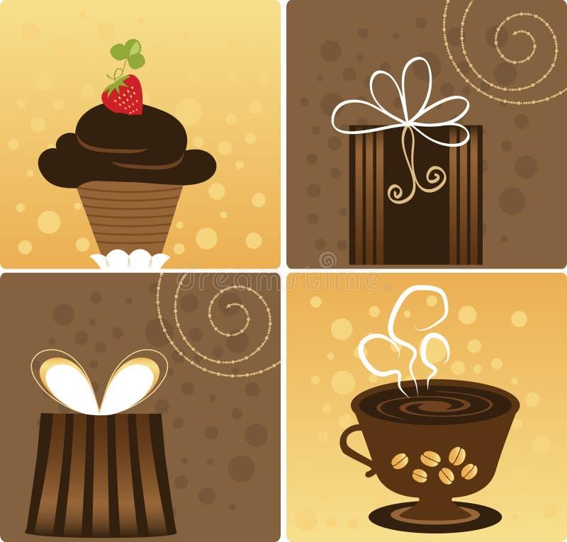 Café e chocolate ilustração do vetor