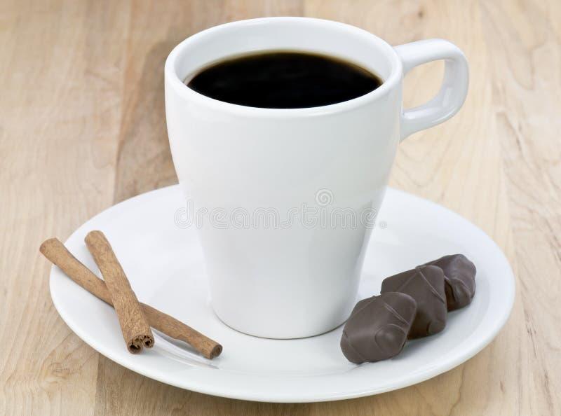 Café e chocolate imagens de stock