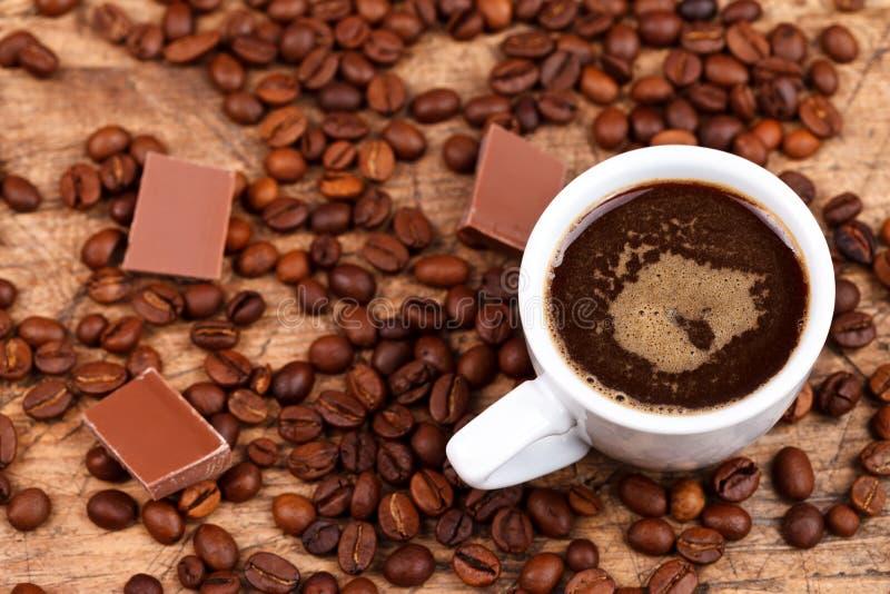 Café e chocolate foto de stock