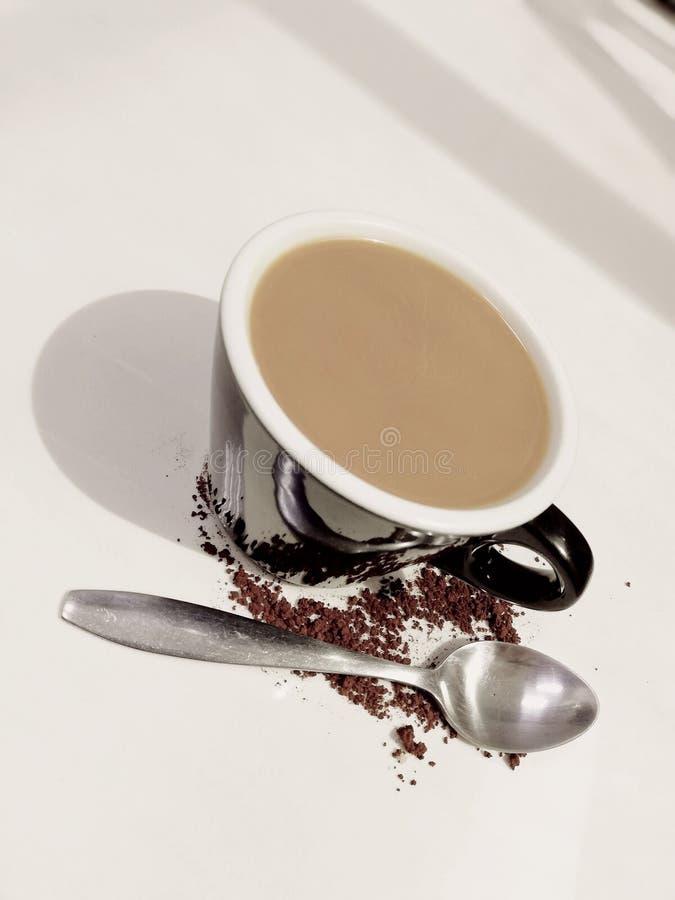 Café e colher imagem de stock