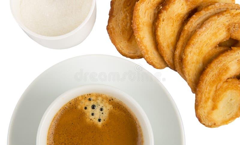 Café e detalhe dos bolinhos imagem de stock royalty free