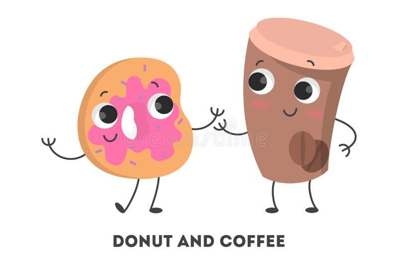 Café e filhós ilustração royalty free