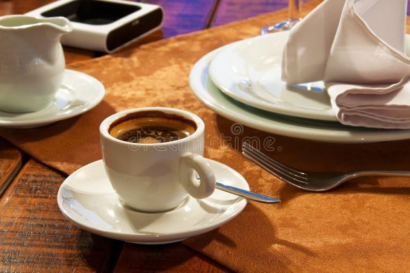 Café e leite fotografia de stock