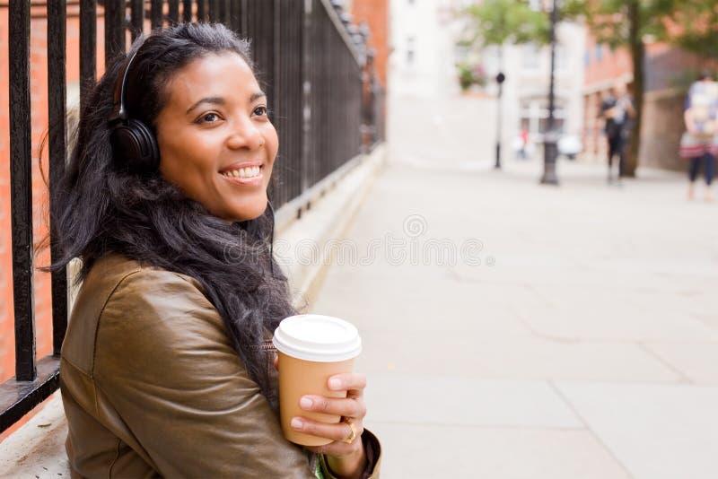 Café e música fotografia de stock