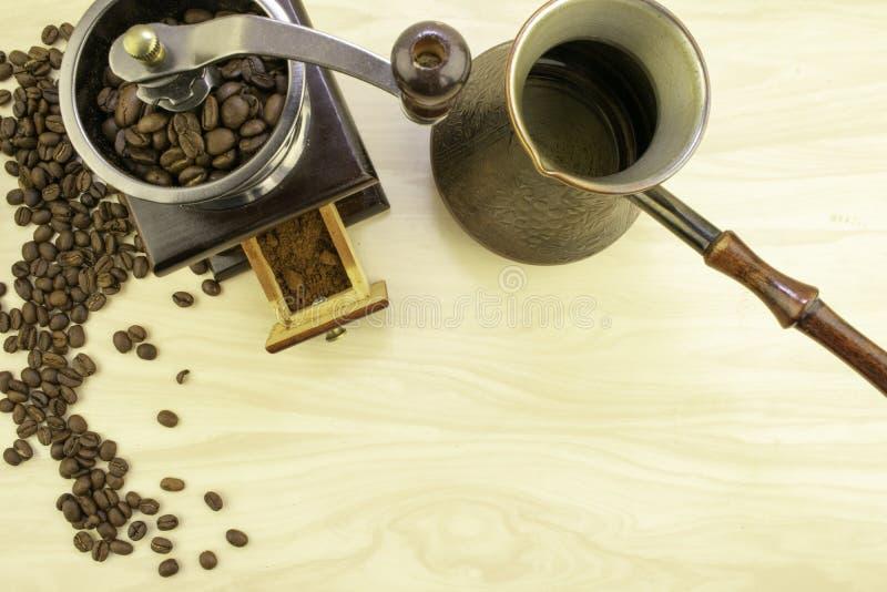 Café e sua preparação foto de stock
