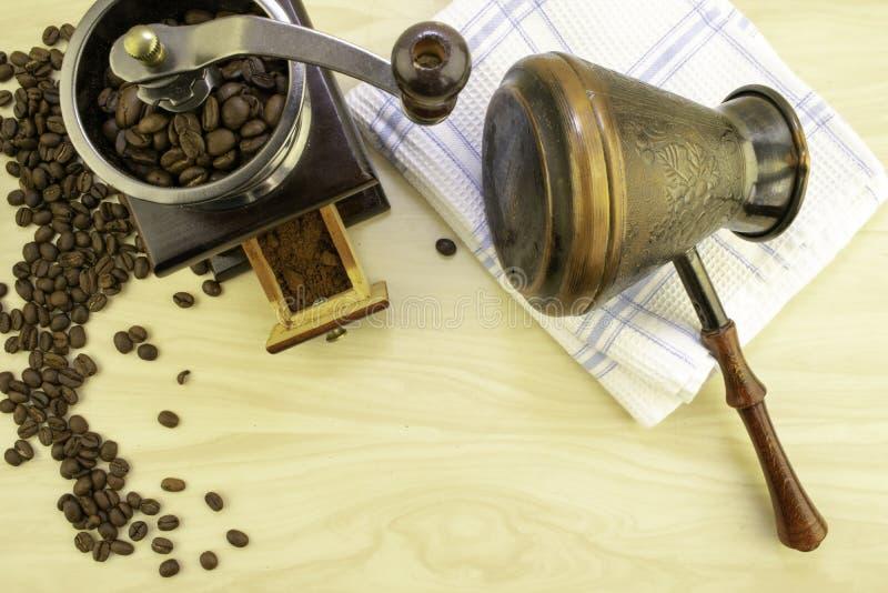 Café e sua preparação fotos de stock
