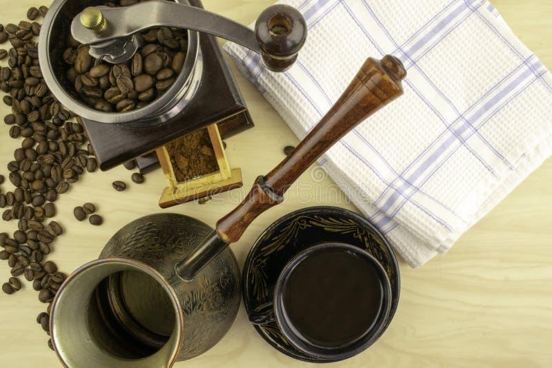 Café e sua preparação fotos de stock royalty free