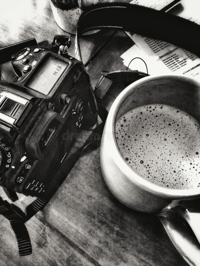 Café e uma câmera imagem de stock
