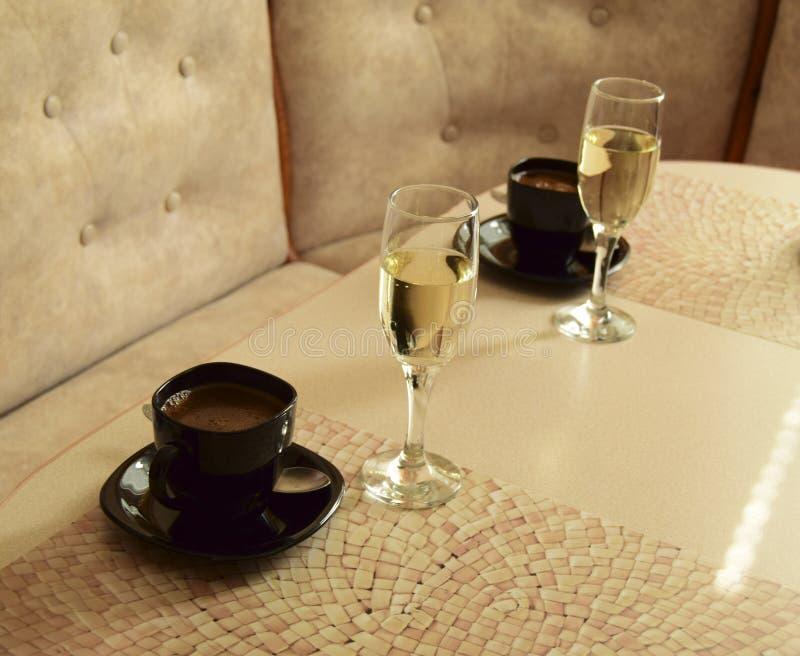 Café e vinho imagem de stock royalty free