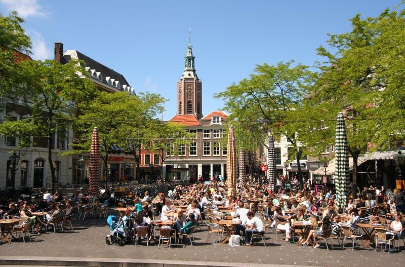 Café em Haia, Holland imagens de stock