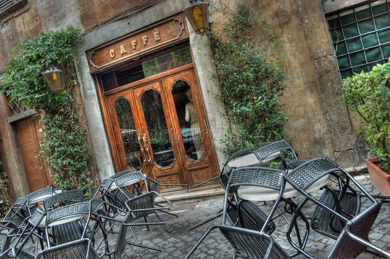 Café em Roma. imagem de stock royalty free