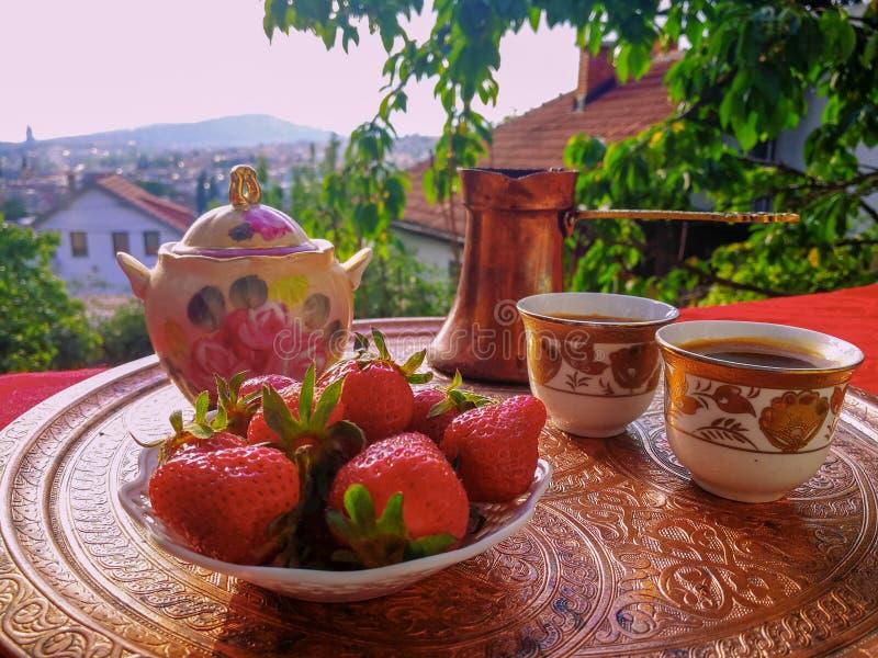 Café em Sarajevo foto de stock