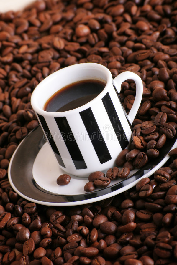 Café em um copo foto de stock