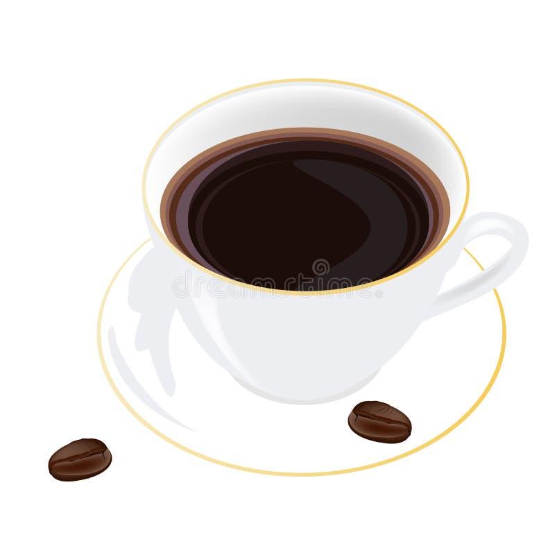 Download Café em um fundo branco ilustração stock. Ilustração de idéia - 29848681